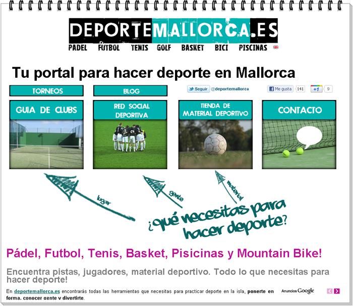 Página web deportiva para jugadores mallorquines